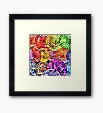 Parasols Framed Print