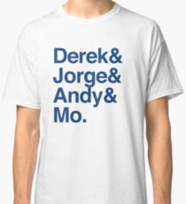 The Core Four - Yankees - Helvetica List Classic T-Shirt