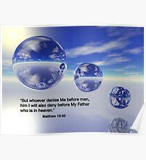 Matthew 10:33 Poster