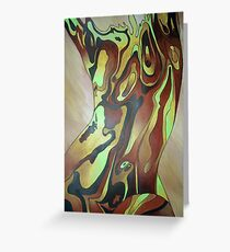 Contemporary Nude Abstract In Brown Greeting Card