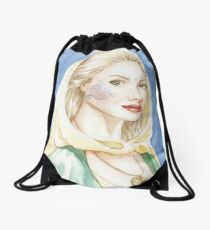 Child of the goddess - Celtic lady Drawstring Bag