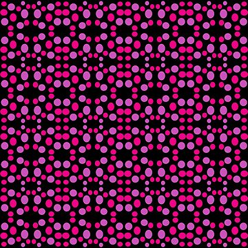 Pink dots pattern on black by donnagrayson