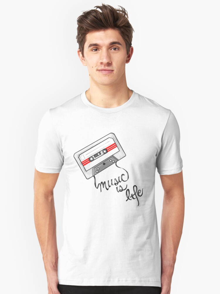 music is life Unisex T-Shirt Front