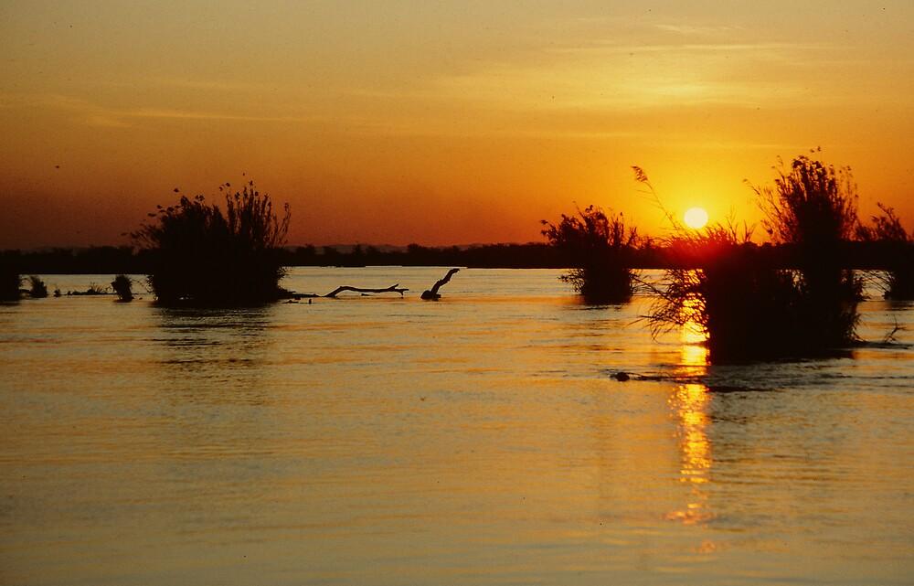Sunset in the Zambezi Escarpment by bertspix