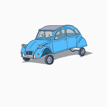 little blue 2cv by johnkratovil