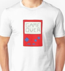 Game Over in red and blue T-Shirt