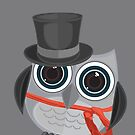 Top Hat Owl - Large by Adam Santana