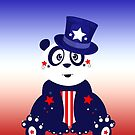 Patriotic Panda - Gradient by Adam Santana
