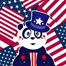 Patriotic Panda - Flags by Adam Santana