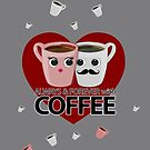 Always & Forever with Coffee - Heart by Adam Santana