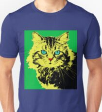 POP ART CAT YELLOW - GREEN Unisex T-Shirt