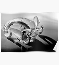 1952 Dodge Ram Hood Ornament -0654bw Poster