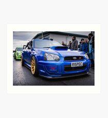 Subaru WRC Art Print