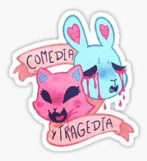 tragedy and comedy Sticker
