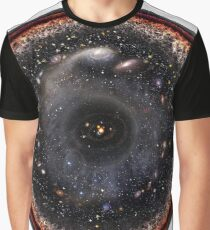 Observable Universe Logarithmic Illustration Graphic T-Shirt