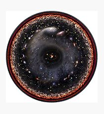 Observable Universe Logarithmic Illustration Photographic Print