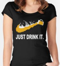 Just Drink It Beer Women's Fitted Scoop T-Shirt
