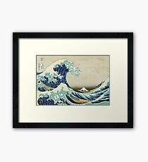 The Great Wave off Kanagawa - Hokusai 1829–1833 Framed Print