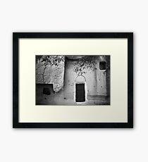 Cappadocian Cave Door (Black And White) Framed Print