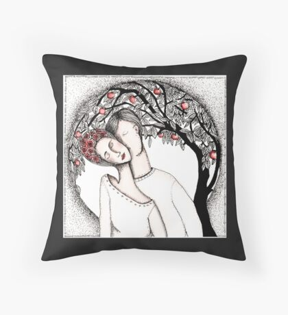Love is a circle Throw Pillow