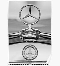 Mercedes-Benz Hood Ornament - Emblem -467bw Poster