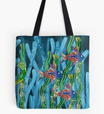 Posidonia oceanica + fishes Tote Bag