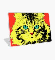 POP ART CAT - YELLOW RED Laptop Skin