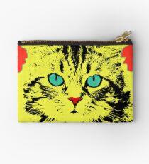 POP ART CAT - YELLOW RED Studio Pouch