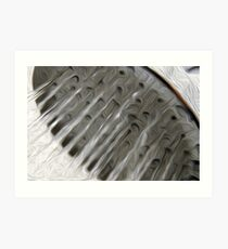 Water flowing from a shower head oil paint effect Art Print