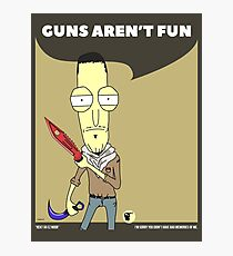 Guns Aren't Fun. Rick and Morty in CSGO! Photographic Print