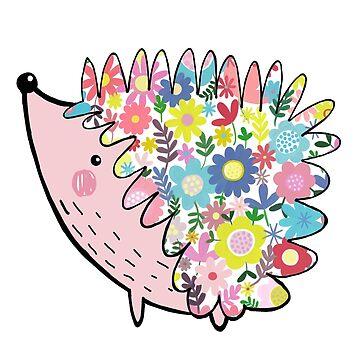 Flowery hedgehog by stamptout