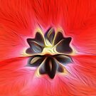 Red tulip oil painting effect by funkyworm