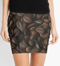 Coffee beans oil painting effect Mini Skirt