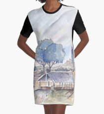 Farm shed in Magaliesburg Graphic T-Shirt Dress