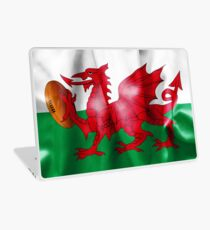 Welsh Dragon Rugby Ball Flag Laptop Skin