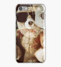 Grunge teddy bear Taxi driver effect - you lookin at me.  iPhone Case/Skin