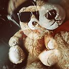 Grunge teddy bear Taxi driver effect - you lookin at me.  by funkyworm