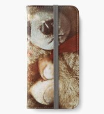 Grunge teddy bear Taxi driver effect - you lookin at me.  iPhone Wallet