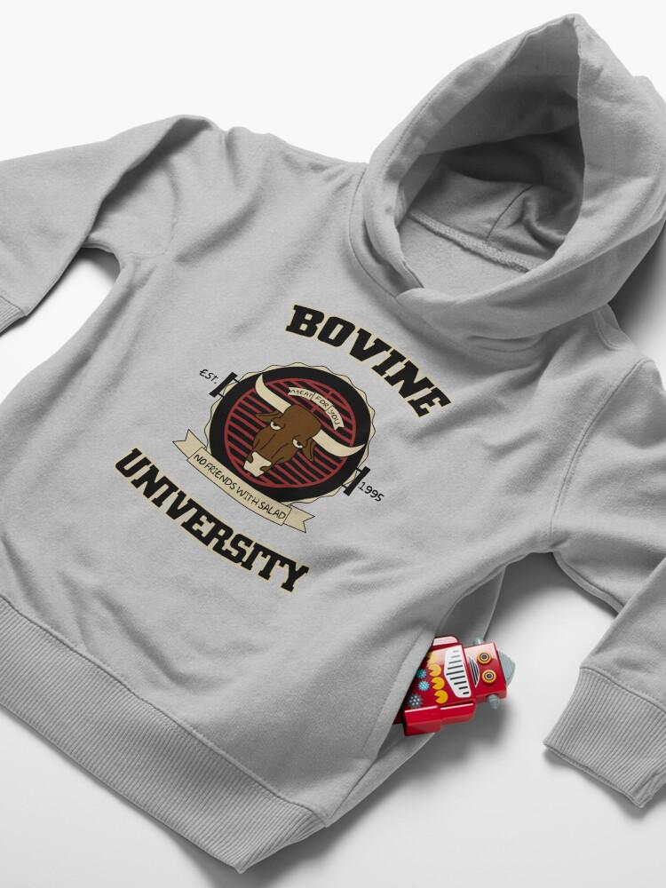 Alternate view of Bovine University Toddler Pullover Hoodie