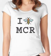 I love Manchester Women's Fitted Scoop T-Shirt