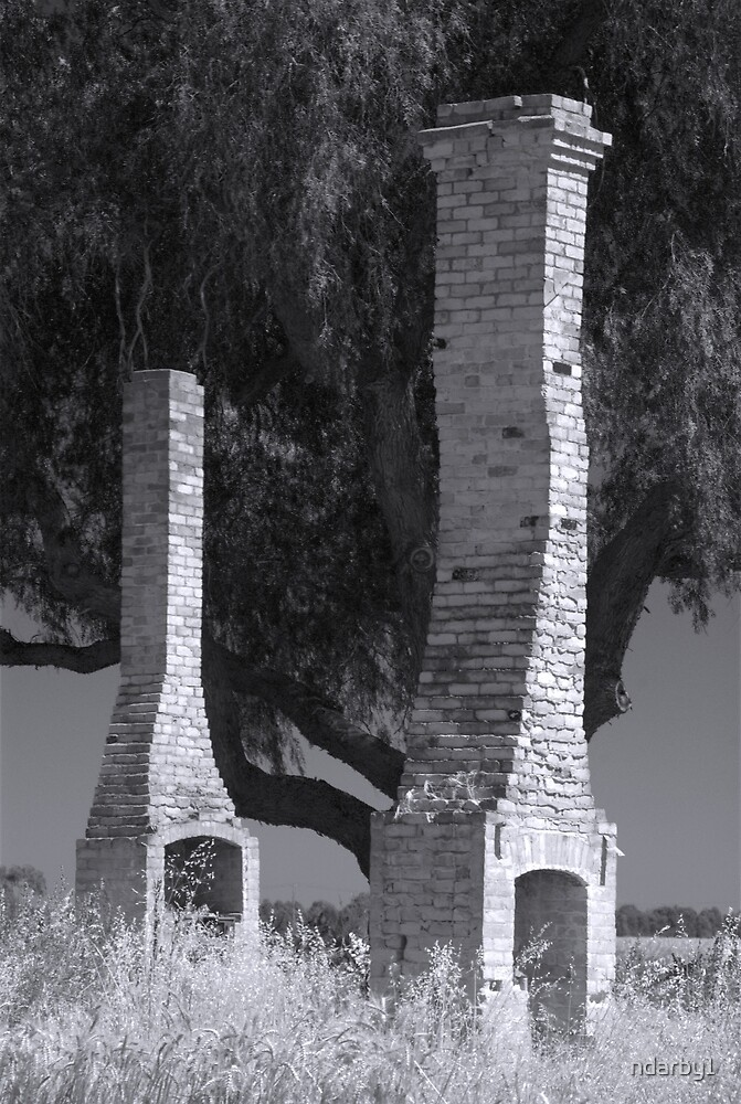Black and white chimneys by ndarby1