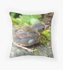 I'm A Beautiful Little Ugly.. Dunnock Hedge Sparrow - NZ Throw Pillow