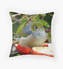 Merry Christmas To You...Silver-Eye - NZ Throw Pillow