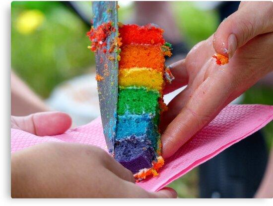 A Sweet Rainbow Treat - Rainbow Owl Cake - NZ by AndreaEL