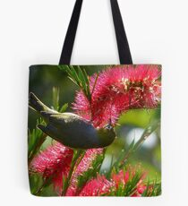 I Know It's In Here Somewhere!! - Silver-Eye On Bottle Brush - NZ Tote Bag