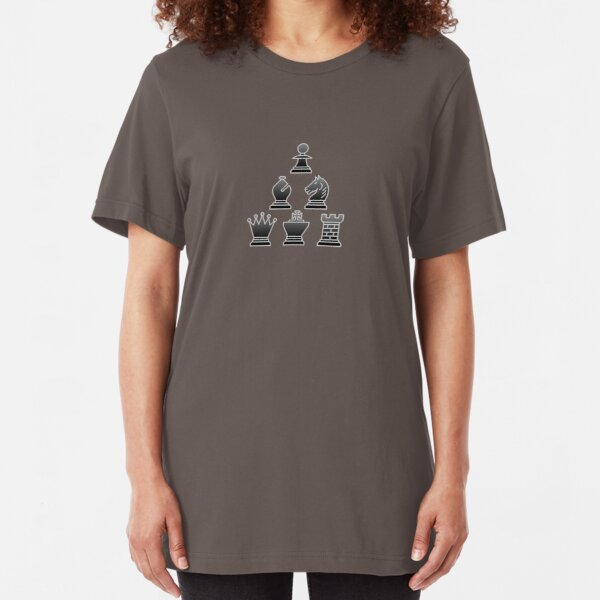 Chess - Black triangle Slim Fit T-Shirt