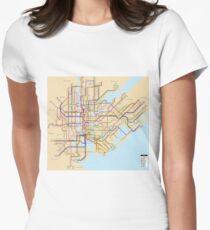 new york subway metro map T-Shirt