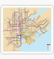 new york subway metro map Sticker
