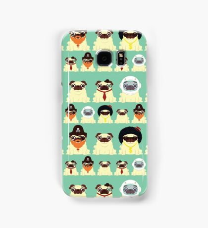 Pug pattern Samsung Galaxy Case/Skin