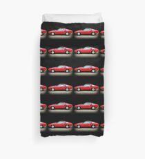 Rotes Auto der Weinlese Bettbezug